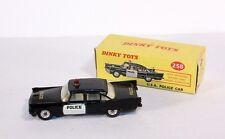 Dinky Toys 258, estados unidos Police Car, DeSoto fireflite, Rare, Mint en Box #ab