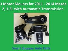 3 Motor Mounts for 2011 2012 - 2014 Mazda 2, 1.5L with Automatic Transmission