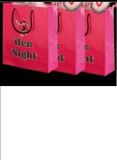 15 Hen Night Hot Pink Party Goodie Bags for Accessories Gifts & Party Packs