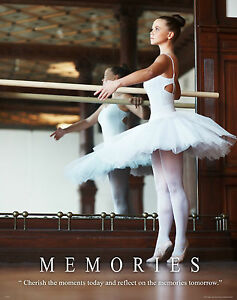 Ballet Dance Studio Motivational Poster Art Print Wall Decor Shoes Tutu Leotard