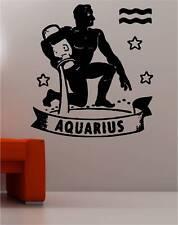 Aquarius ESTRELLA Zodíaco Etiqueta de Pared Arte Etiqueta Engomada del vinilo