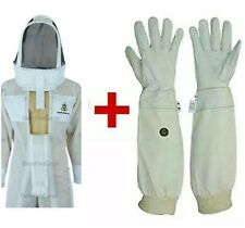 UltraVentilated 3 Layer, Double Zippers, BeeSuit Astronaut Veil+Glove.White.2XL
