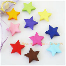 35Pcs Mixed Acrylic Plastic Star Spacer Beads Charms 16mm