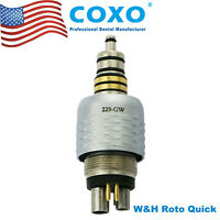 USA W&H Roto Quick LED Coupling Coupler 6Pin Dental Fiber Optic Handpiece