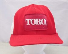 Vintage TORO Snapback Trucker Hat Embroidered Patch Cap