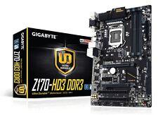 Gigabyte Z170-HD3 DDR3 Motherboard, LGA1151, DDR3, Intel Z170, ATX