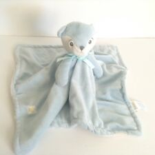 Piccolo Bambino Blue Fox Security Blanket White Underneath Lovey