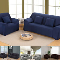 1/3 Seater Soft Slipcover Sofa Covers Elastic Stretch Settee Couch  * t