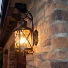 Front Porch Light Fixture Wall Outdoor Exterior Lighting Mounted Lantern Bronze