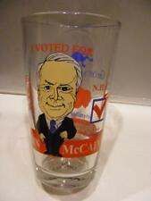 I VOTED FOR JOHN MCCAIN Graphic Water Glass Tumbler 2008 Political Memorabilia