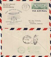 US 1933 GRAF ZEPPELIN LZ 127 TRANSATLANTIC FLIGHT CHICAGO TO FRIEDRICHSHAFEN