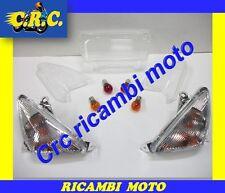KIT GEMME FRECCE TRASPARENTE BIANCO + LAMPADINE YAMAHA T-MAX 500 DAL 2001 AL2003