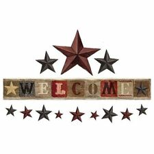 WELCOME Country Stars Wall Decals Rustic Tin Wood Room Decor Stickers Farm Barn