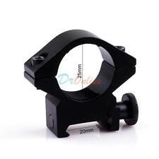 25mm QD Scope Flashlight Ring Mount Holder 20mm Rail for Surefire Torch Holder