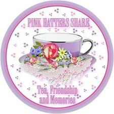 4X LAVENDER T SHIRT PINK HATTERS SHARE TEA & FRIENDSHIP FOR LADIES OF SOCIETY