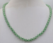 Charming! 18Inch 6mm Green beans Emerald jade Gemstone Necklace JN1945