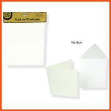 48 x MEDIUM BLANK WHITE CARDS W/ ENVELOPE Custom Card Photos Craft Scrapbooking