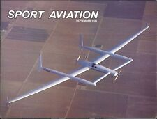 Sport Aviation Magazine Sep 1984 Pong Dragon Horizontal Tail Acro Sport Carnauba