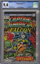 Captain America and the Falcon #182 CGC 9.4 NM Wp Marvel 1975 Nomad Vs Viper Cvr