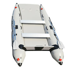 3.3M Inflatable Catamaran Inflatable Boat Inflatable Dinghy Mini Cat Boat Gray