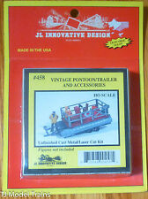 JL Innovative Design #458 Vintage Pontoon/Trailer & Accennories (Light Cast) HO