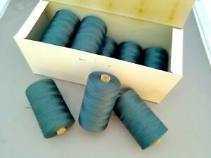 10 German Cotton Heavy Duty Commercial Thread Spools Feldgrau Dark Hunter Green
