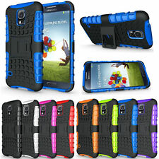 Samsung Galaxy S5 Case - Heavy Duty Shockproof Rugged Bumper Armor Stand Cover