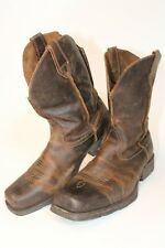 Ariat Mens Size 10.5 EE 44 W Rambler Leather Square Toe Western Boots 10015307