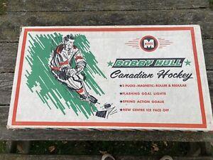 Bobby Hull Table Hockey Game w/ Orig Box Plus Six Teams Vintage 60s