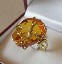 ANELLO  AMBRA   donna  oro giallo 18 KT  750/000  Gr. 6.80
