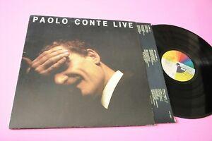 PAOLO CONTE LP LIVE ORIG ITALY 1988 EX CON INNER TESTI