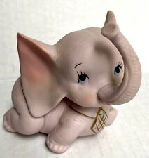 Vintage Pink Baby Elephant Figurine by Papel Imports Japan Porcelain Animal