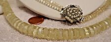 Necklace 1940's Crystals Rondels Langani German