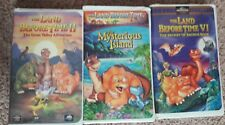 The Land Before Time 2, 5 and 6 VHS Lot - Great Valley, Island, Saurus Rock GUC