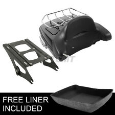 Haché Tour Pak Pack Trunk dossier & 2 UP rack pour Harley Touring 14-18 15 16