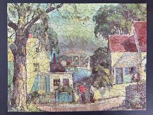 Vintage TUCO Deluxe Picture Art Puzzle HARBOR VIEW Artist Otis Cook 1940's VGUC