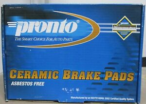 BRAND NEW PRONTO FRONT BRAKE PADS PCD888 / D888 FITS VEHICLES ON CHART
