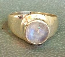 Traditional Sterling Silver Asian Vintage Style Moonstone Ring Size Q Gift