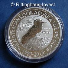 Silbermünze Kookaburra Jubiläum 25  1Oz 1990-2015 Unze Silber anniversary