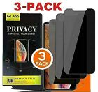 3-PACK iPhone 12 11 Pro Max XR Privacy Anti-Spy Tempered GLASS Screen Protector