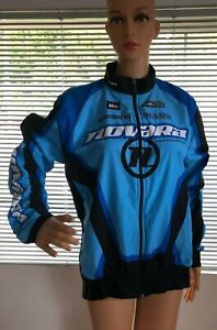 Sugoi Novara Womens Blue Black Cycling Jacket Zip Up Long Sleeve Large Biking