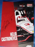 AUTOGRAPHED Helio Castroneves Verizon 6x9 2013 Indy Car Hero / Post card