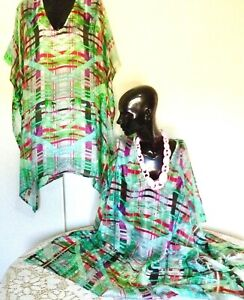 100% Silk Kaftan  / Vibrant & Cool /  Plus / Very light & Cool /   RR$149