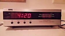 VTG Clock Radio 1970's Space Age Sci Fi Clock Gen 1919A  1980's Montgomery Ward