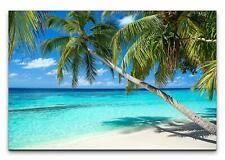 Leinwandbild Palmen am Strand