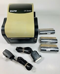 SATO CX SERIES CX400 EX1 PARALLEL SERIAL THERMAL TRANSFER LABEL **UNTESTED **