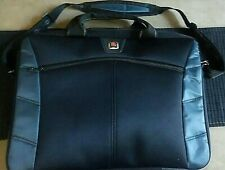 """Swiss Gear Laptop Computer  Shoulder Bag by Wenger Black Device Up to 18""""."""