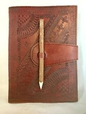 Large Diary Leather Recycle Pencil slot tree Embossed Notebook Journal