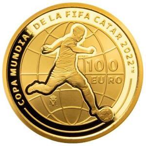 Spanien - 100 Euro 2021 - Fußball-WM 2022 in Katar - 6,75 gr Gold PP