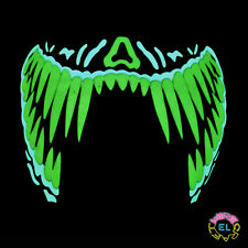 Glowing Fang Mask - Carnival festival - Sound Activated - With Driver